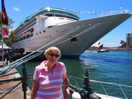 Sandra T., by Rhapsody of the Seas before Earth Hour