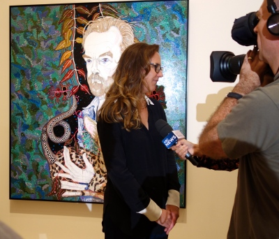 Del Kathryn Barton with her winning portrait