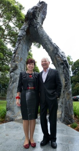 NSW Environment Minister Robyn Parker with Neil Balnaves of the Balnaves Foundation. Photo J..Plaza