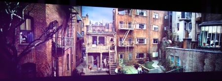 Jeff Desom's  Computer Generated Panorama of Rear Window Set