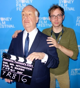 Alfred Hitchcock with Jeff Desom