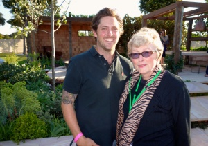 With Charlie Albone in front of his award winning garden
