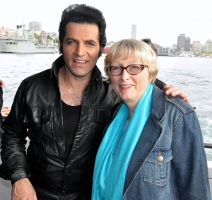 "Sandra Tiltman with ""Elvis"", Mark Andrew."