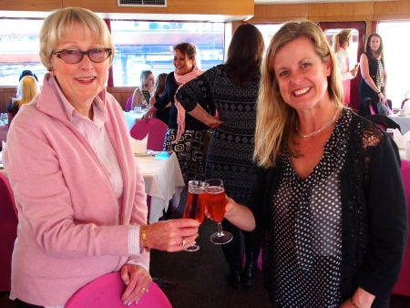 Sandra Tiltman with Leisa Chell of Cruise Passenger Magazine