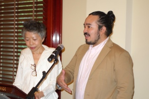 MC Lee Lin Chin of SBS with Adam Liaw