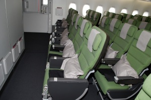 Economy seating where sometimes air rage occurs