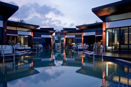 Poolside Villa Outside