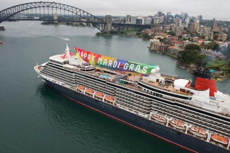 Cunard's Queen Elizabeth Salutes Sydney Mardi Gras Mandatory Credit James Morgan (3)