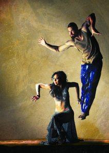 Bangarra, Patyegarang, Jasmin Sheppard and Thomas Greenfield, photo by Greg Barret 2MB