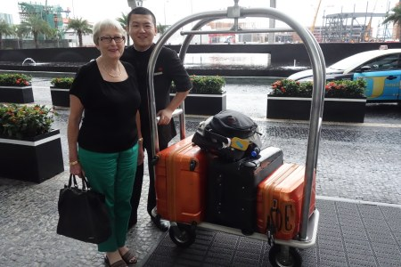 Arriving at Grand Hyatt Macau