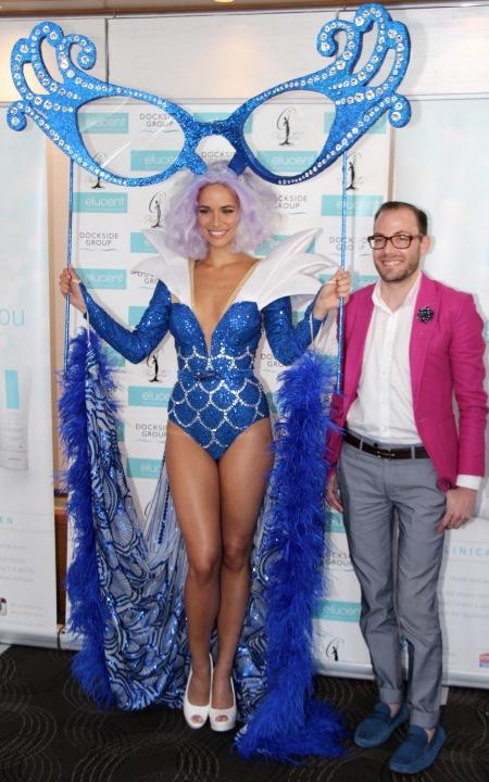 Monica Radulovic with winning designer Timothy Cubbo