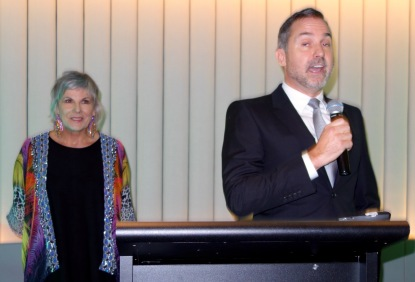 MC Susie Elelman with GM InterContinental Sydney Double Bay, Paul Walters