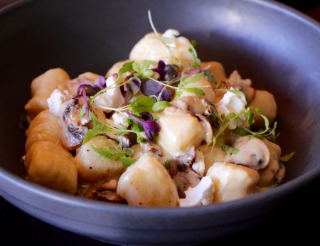 Hand Made Gnocchi with Wild Mushrooms, Goats Cheese and Truffle Oil