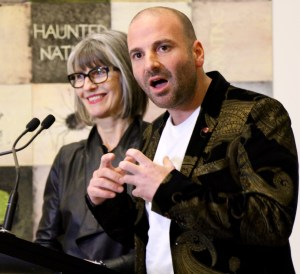 Bettina Fauvel-Ogden with George Calombaris