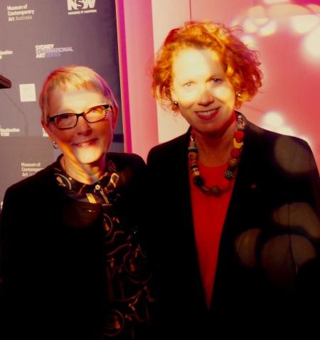 Sandra Tiltman with MCA Gallery Head, Elizabeth Ann Macgregor OBE